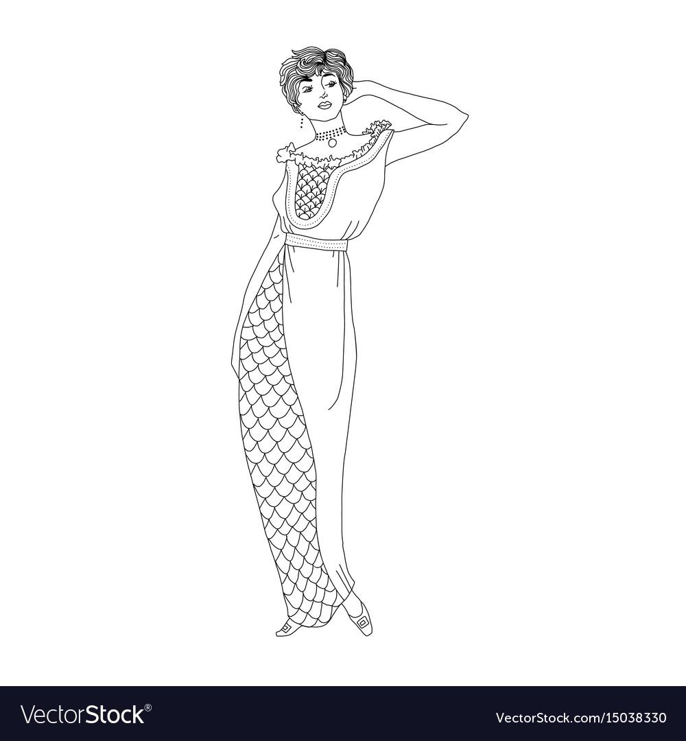 Beautiful retro style woman