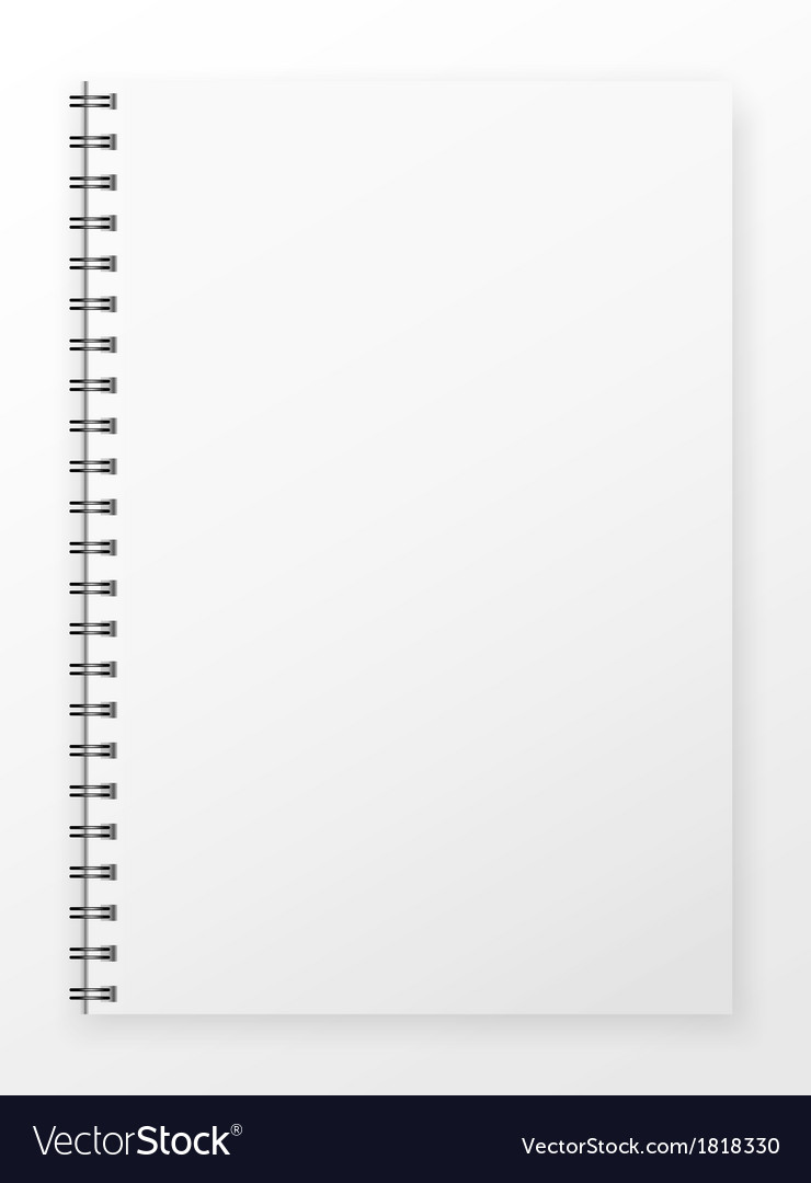 blank notepad royalty free vector image vectorstock