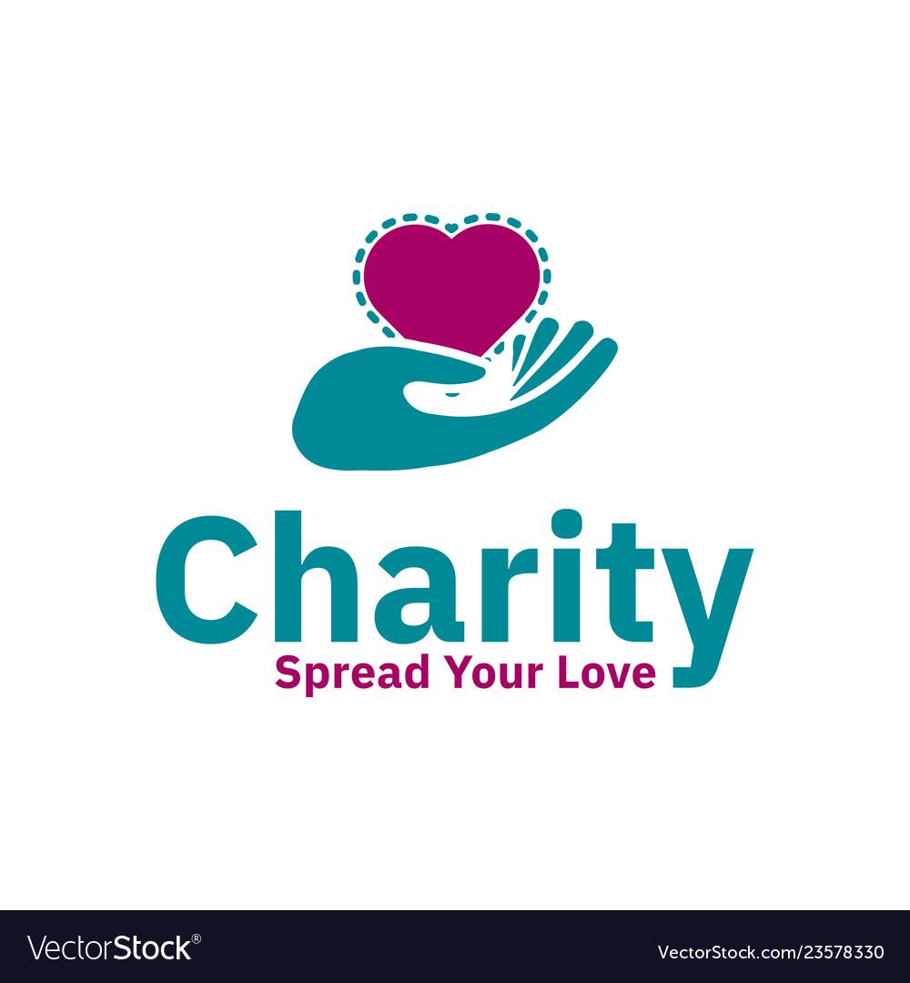 Charity logo design inspiration love shape and