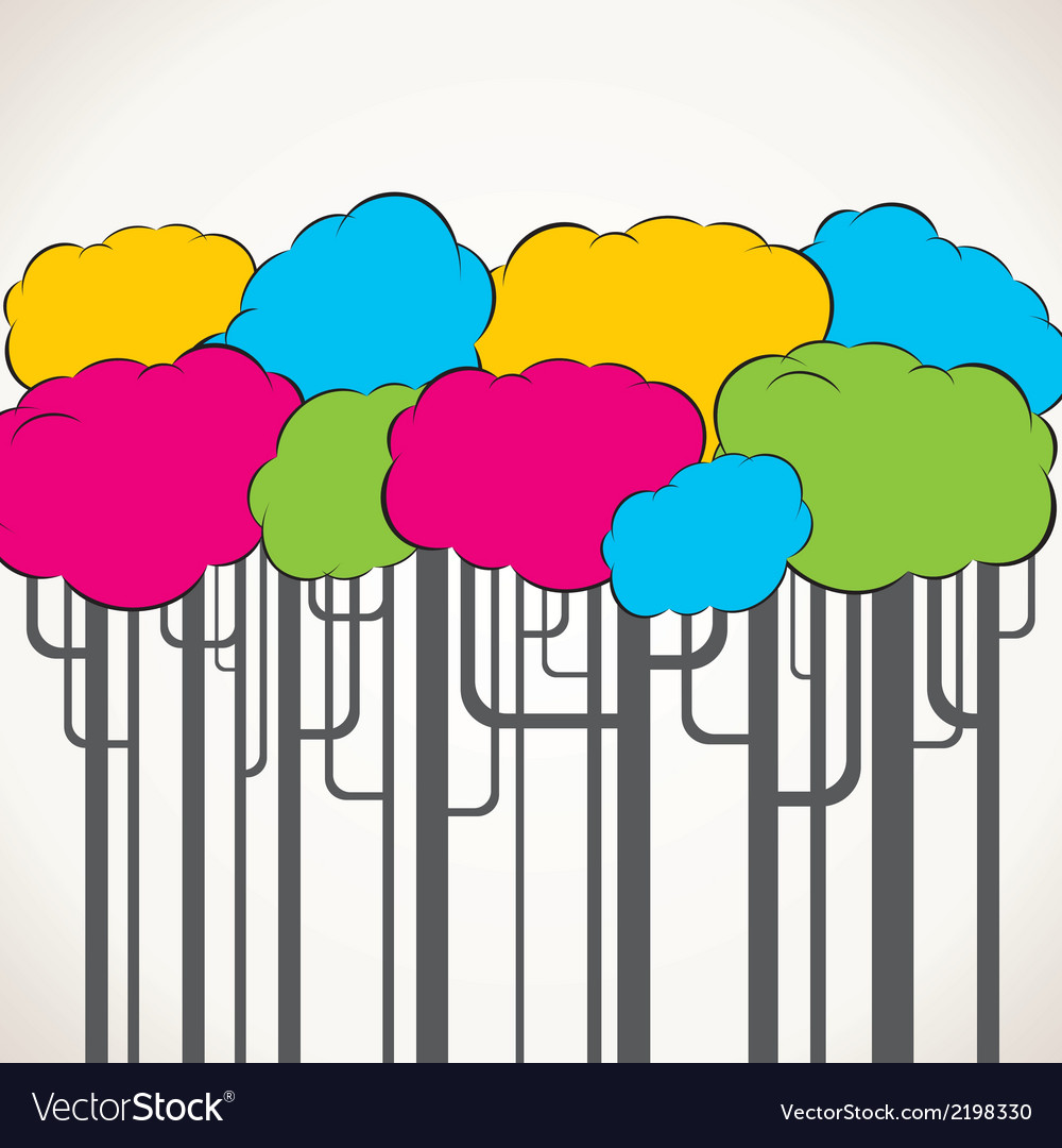 Creative colorful tree background