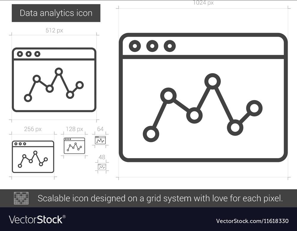 Data analytics line icon vector image