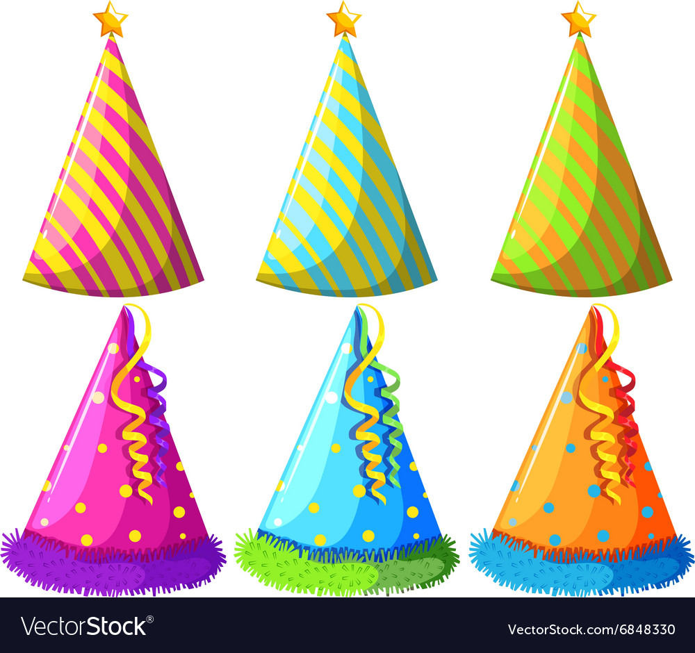 Different design of party hats