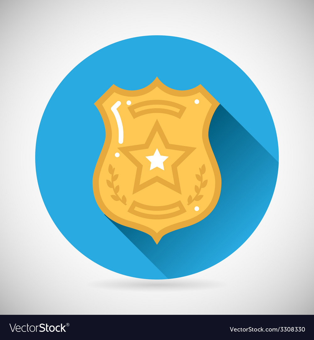 Police officer bage icon protection law order