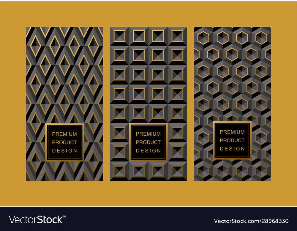 Set black volume 3d backgrounds of