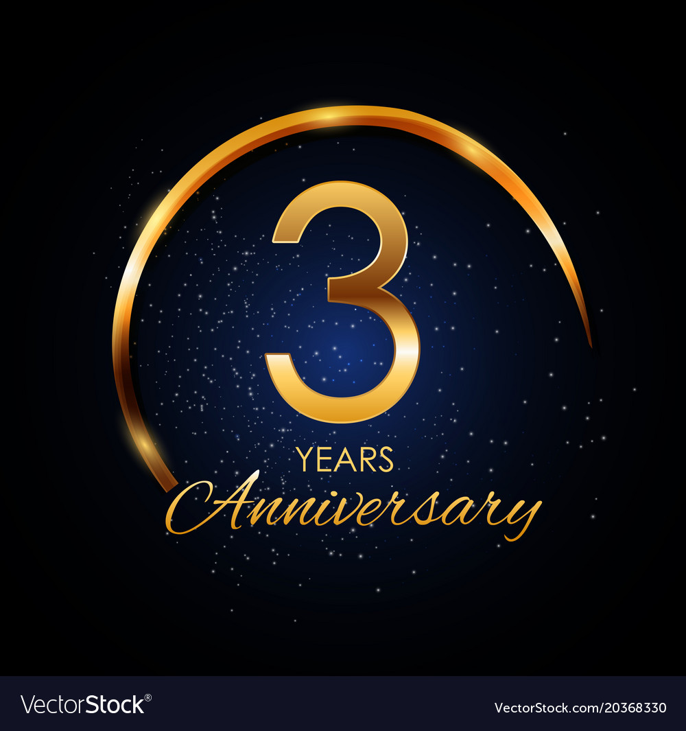 template logo 3 year anniversary royalty free vector image