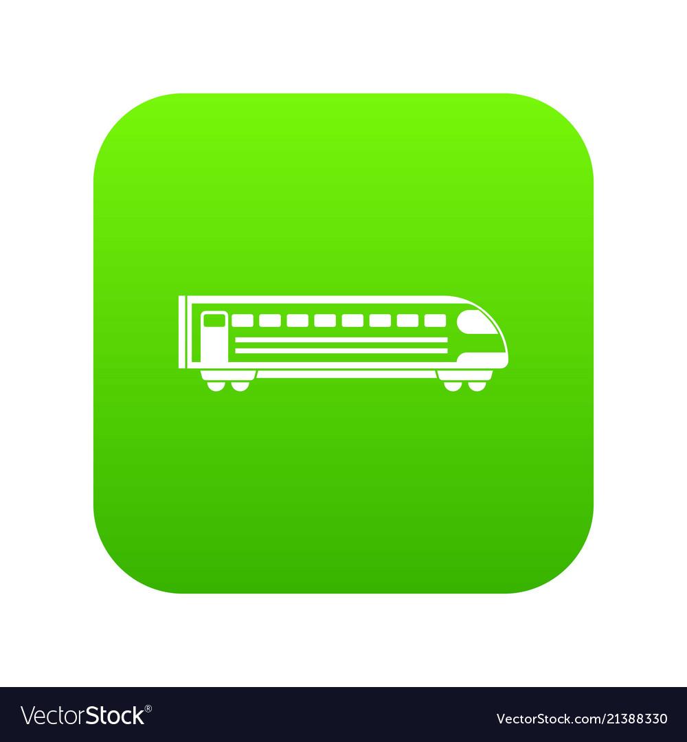 Train icon digital green