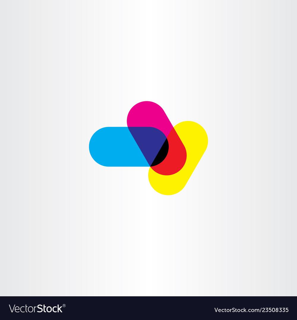Abstract cmyk printing logo symbol element