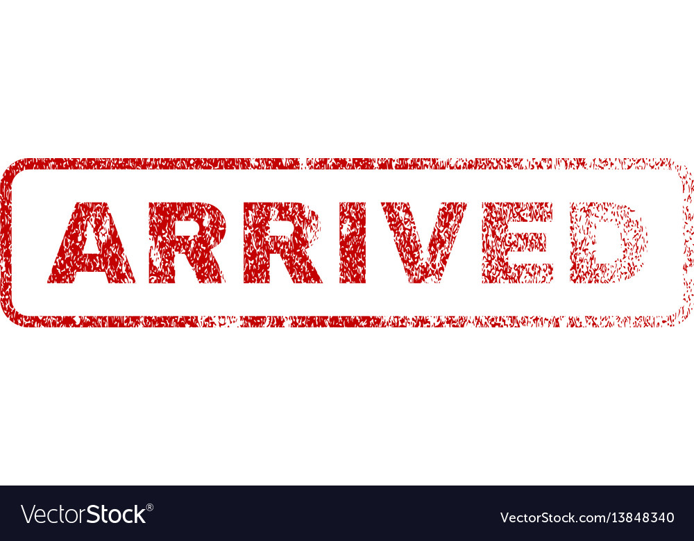 Arrived rubber stamp vector image