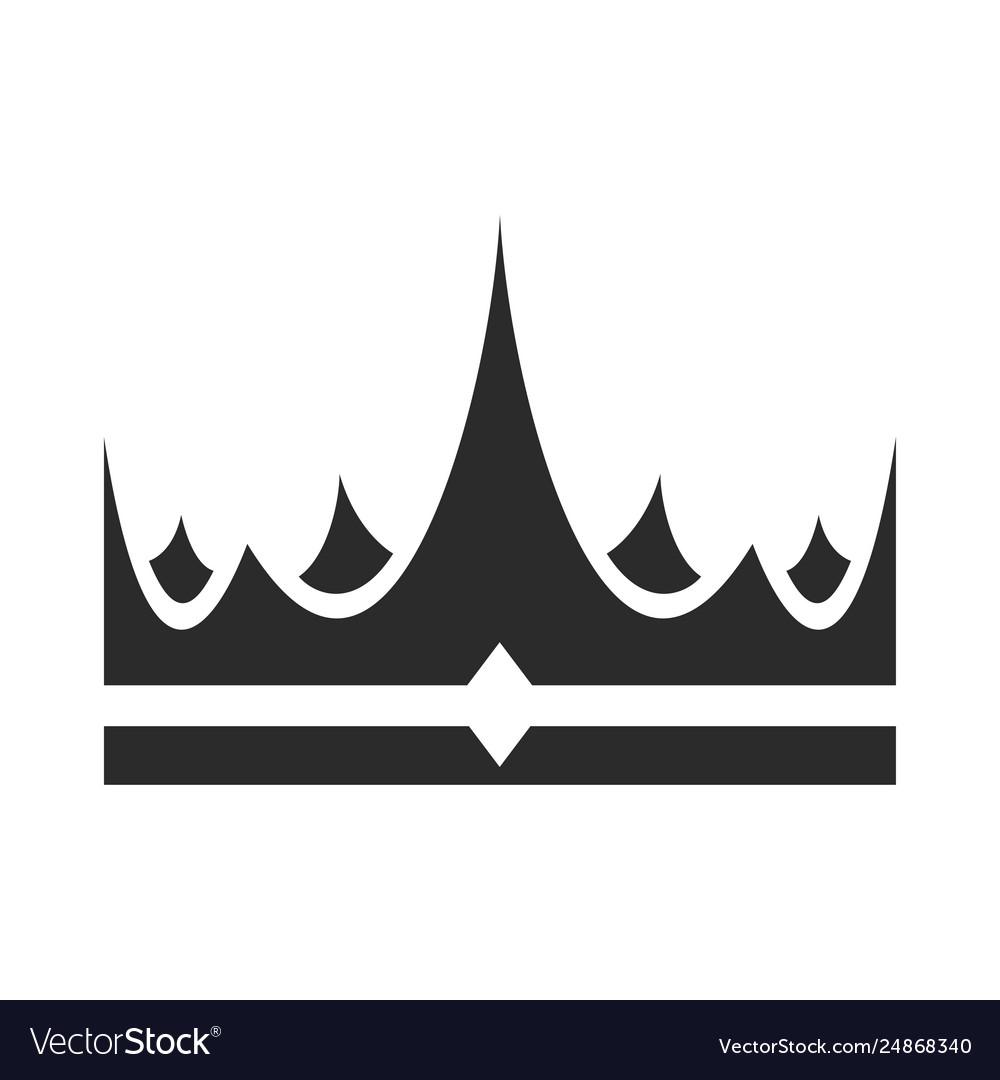 Crown icon award success and coronation