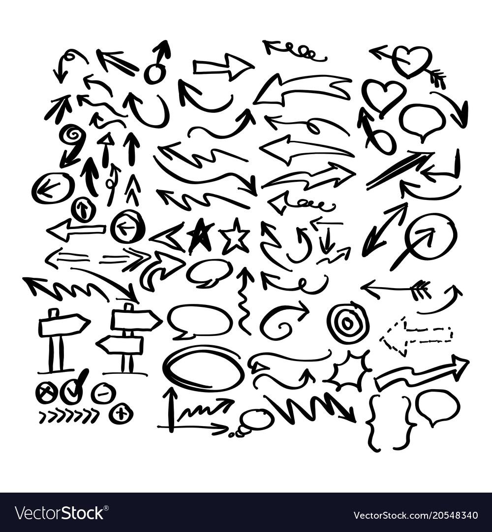 Doodle arrow collection sketch