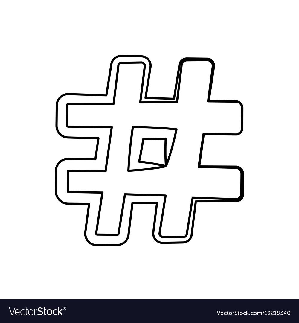 Hashtag social symbol