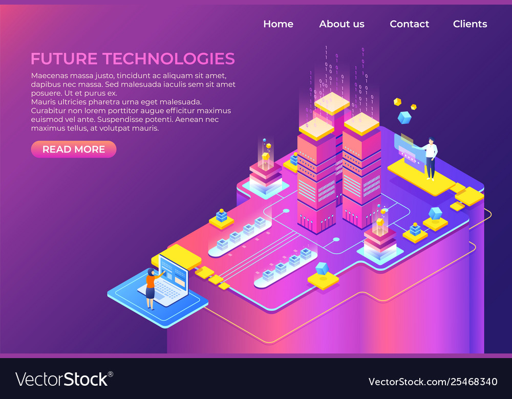Isometric technology concept business 3d