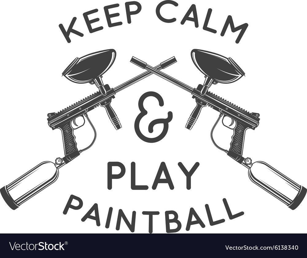 paintball logo template paintballing poster vector image rh vectorstock com paintball logo design paintball logo vector