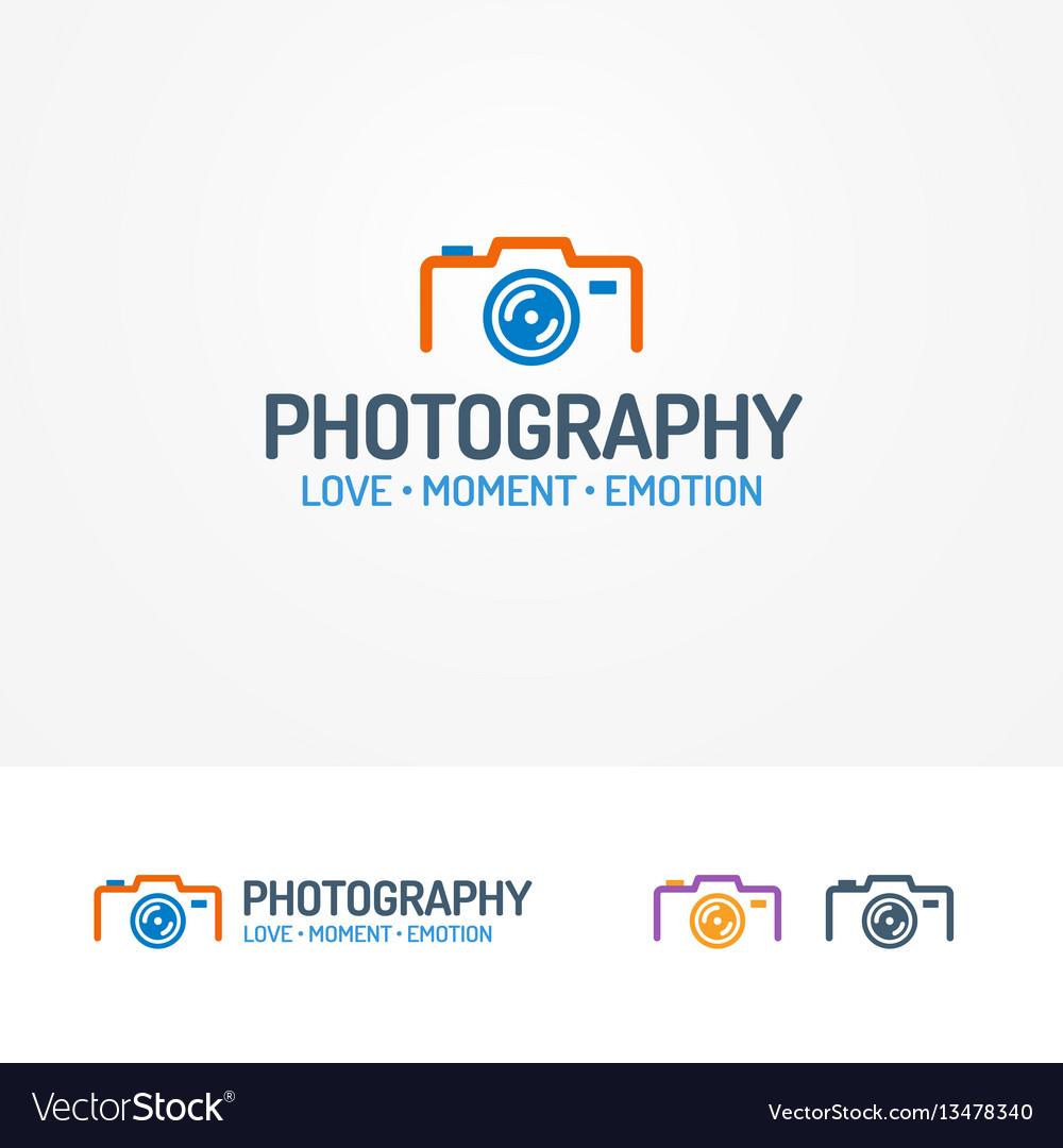 Photography logo set with photocamera