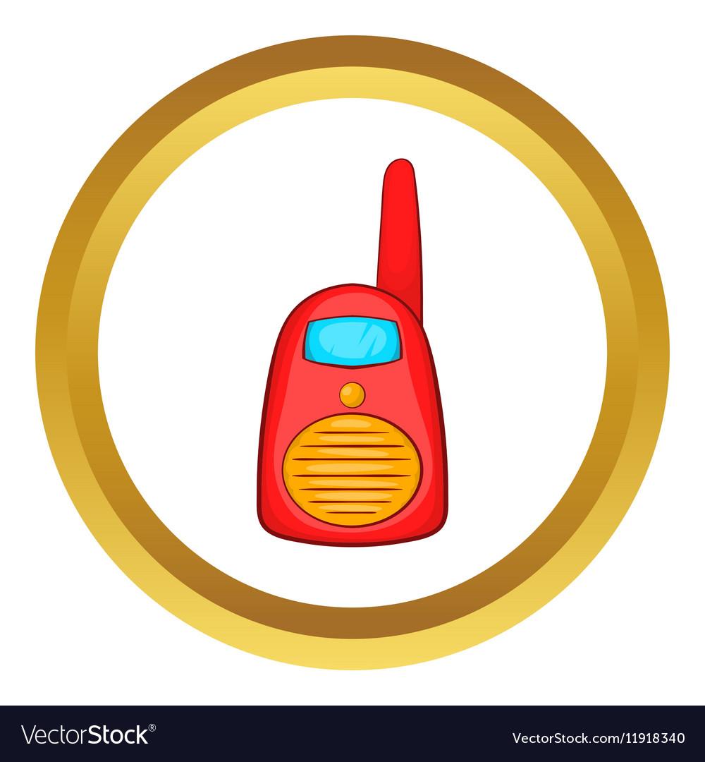 Red portable handheld radio icon vector image