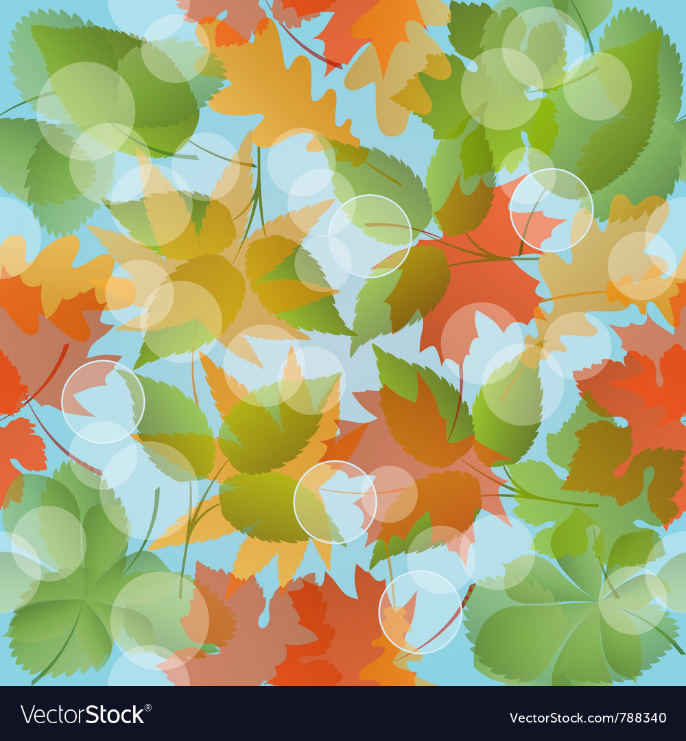 Seamless floral pattern with leaves vector image