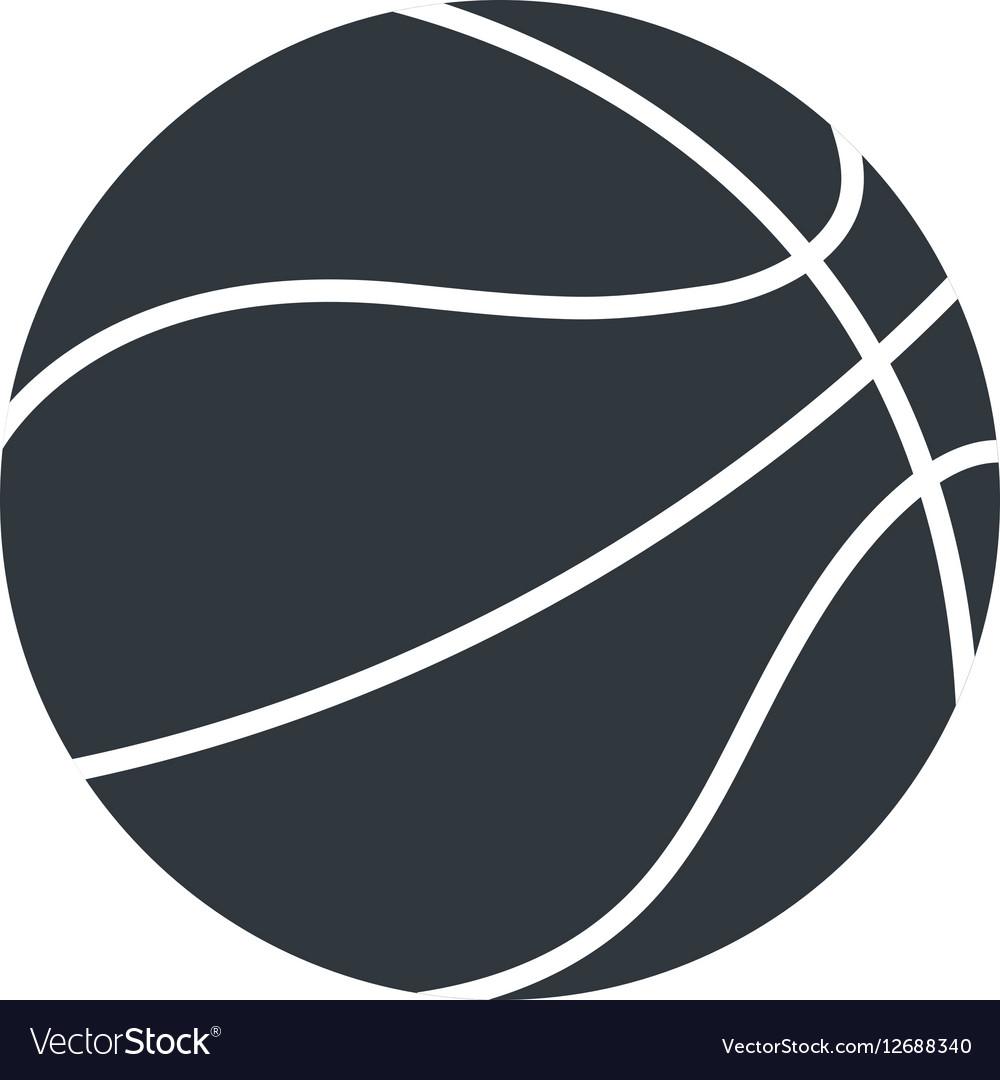 Silhouette basket ball sport symbol icon vector image