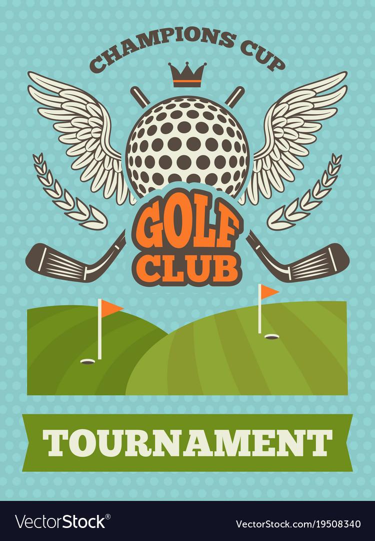 Vintage poster for golf tournament