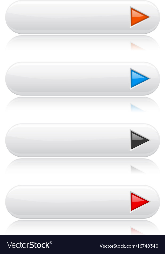 White glossy buttons with colored arrows oval