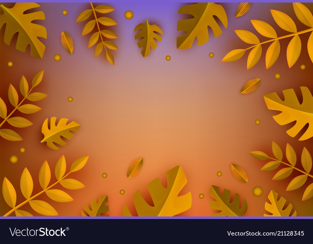 Background template autumn leaves