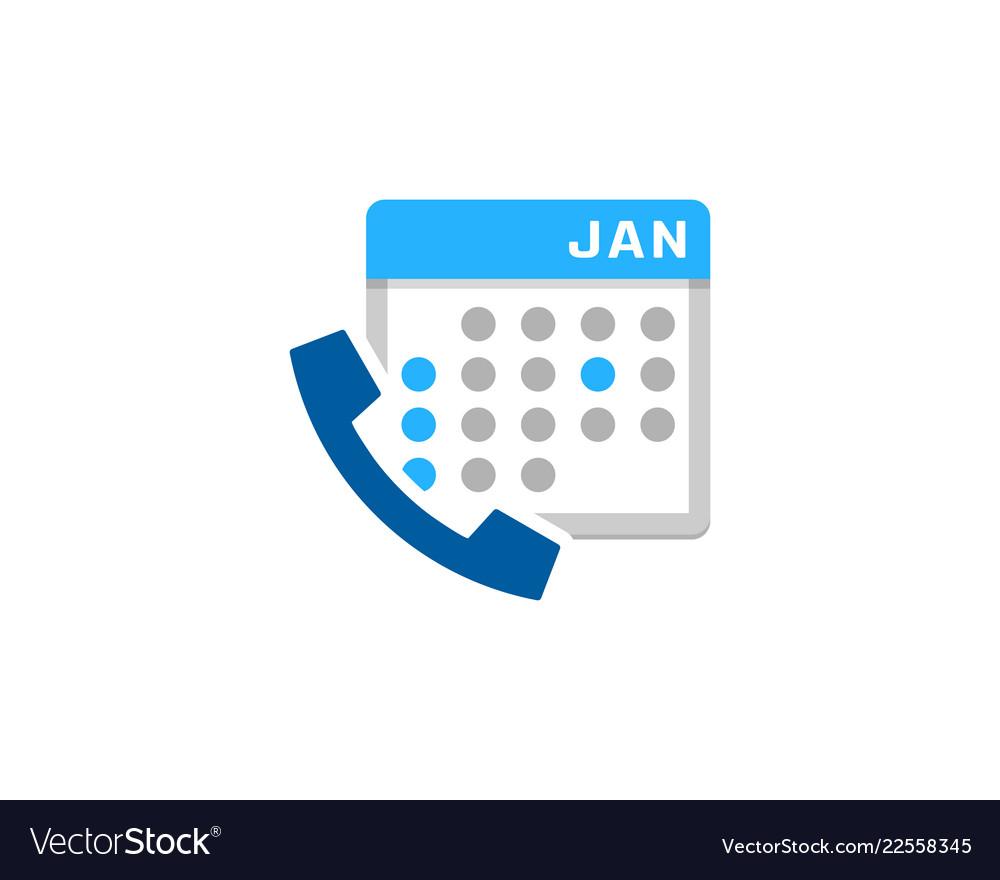 Calendar call logo icon design
