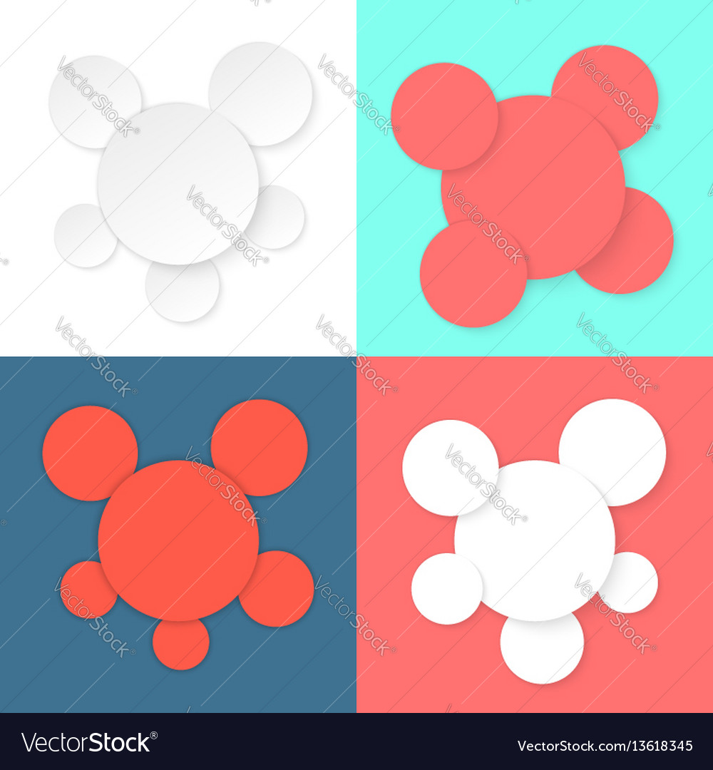 Colored different circles template