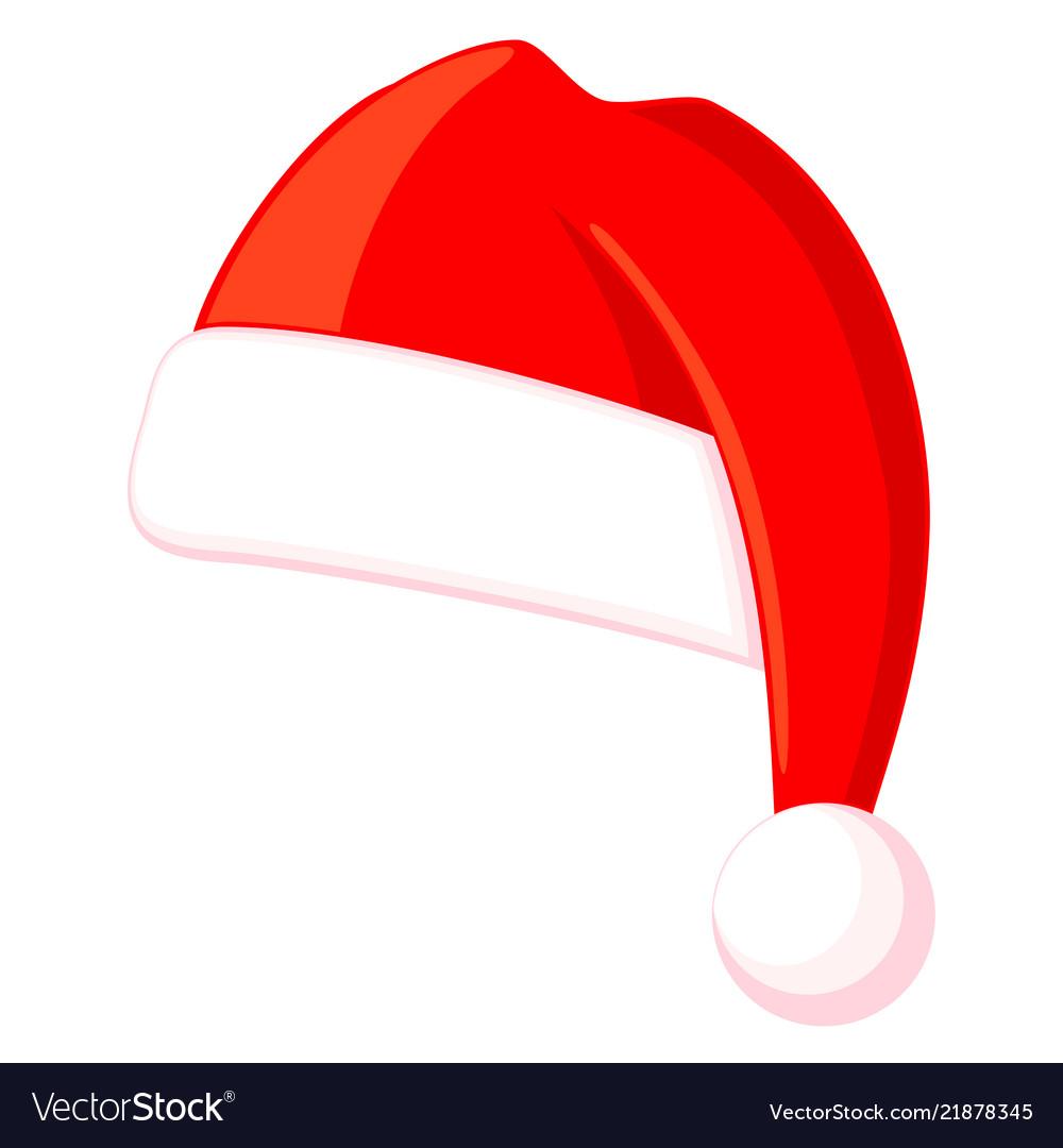 Christmas Hat.Colorful Cartoon Christmas Hat