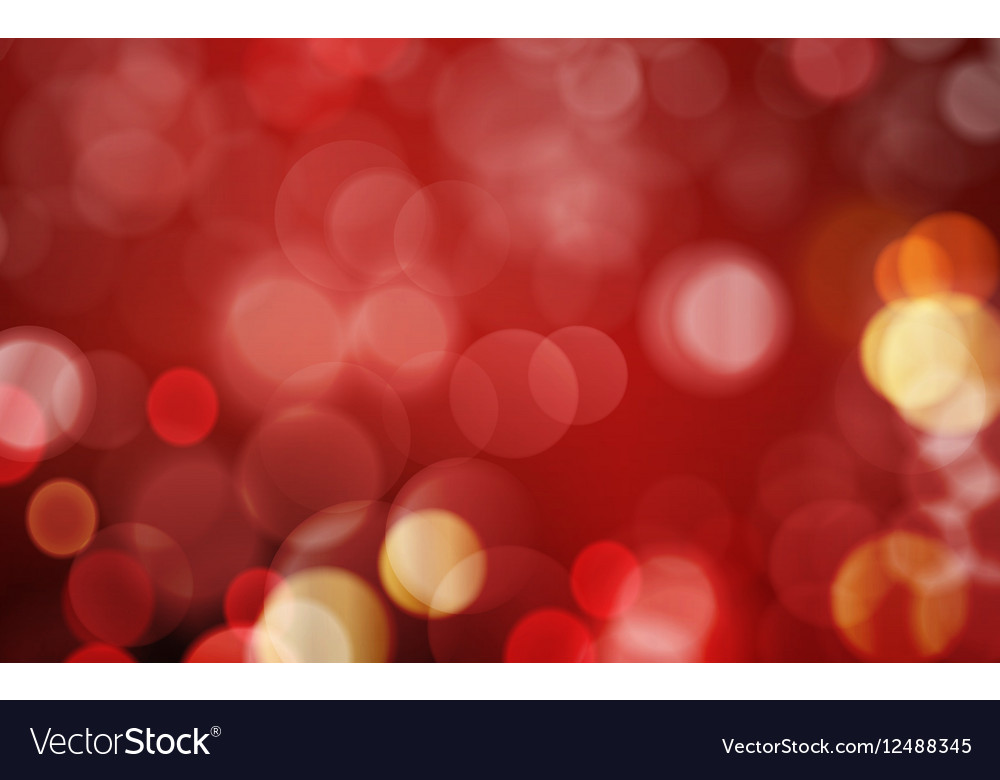 Dark red blurry light dot background vector image