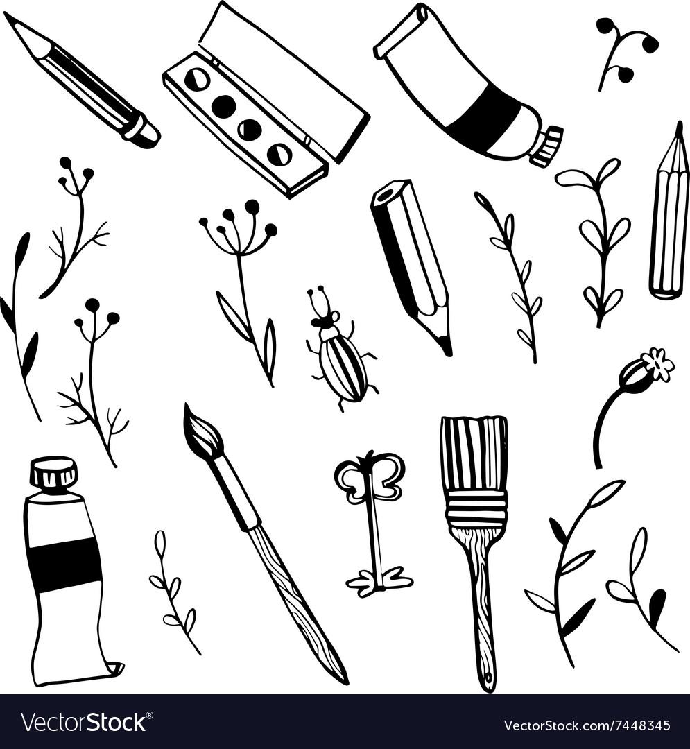 Doodle art materials