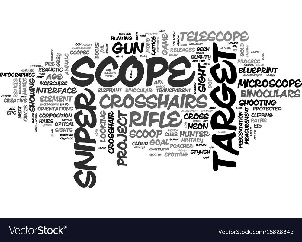 Scope word cloud concept