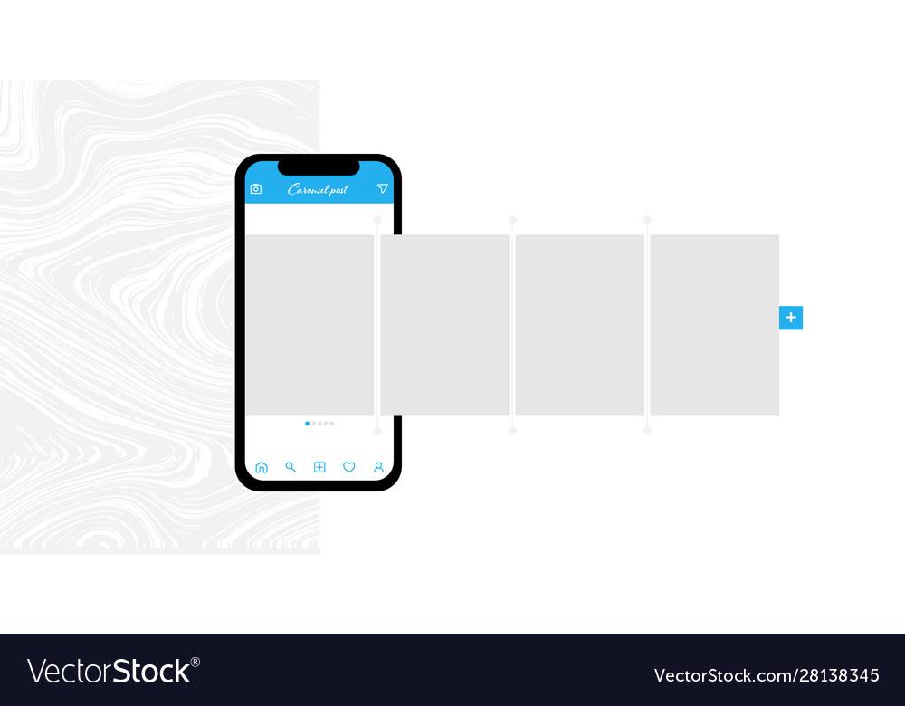 Social media design concept smartphone