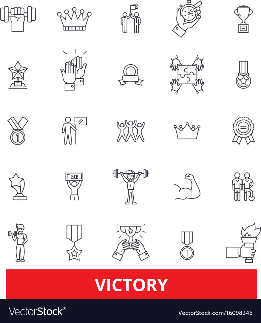 Victory champion win winner success triumph vector image