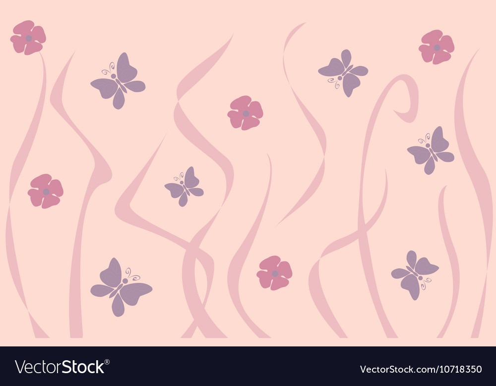 Art Nouveau inspired floral background