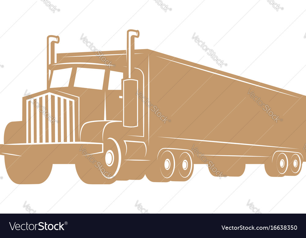 Cargo truck isolated on white