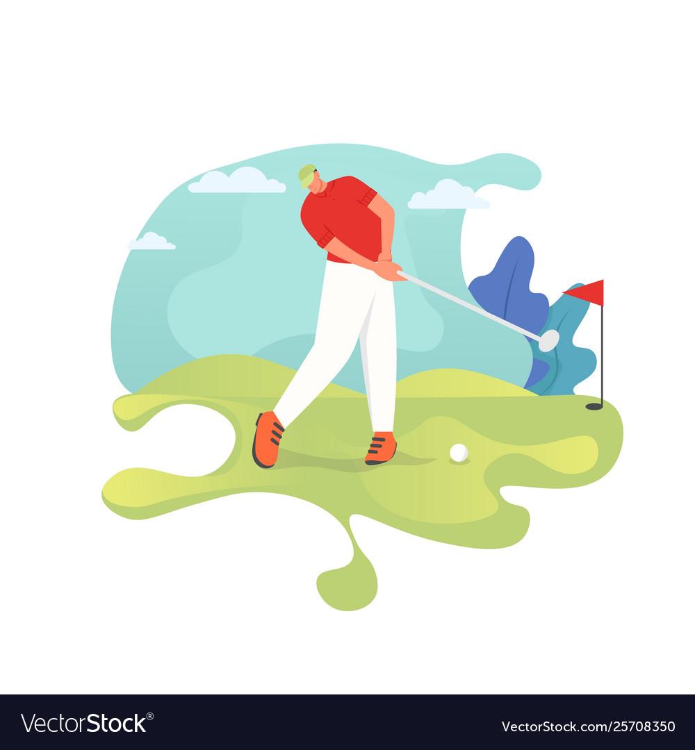Golf player flat style design