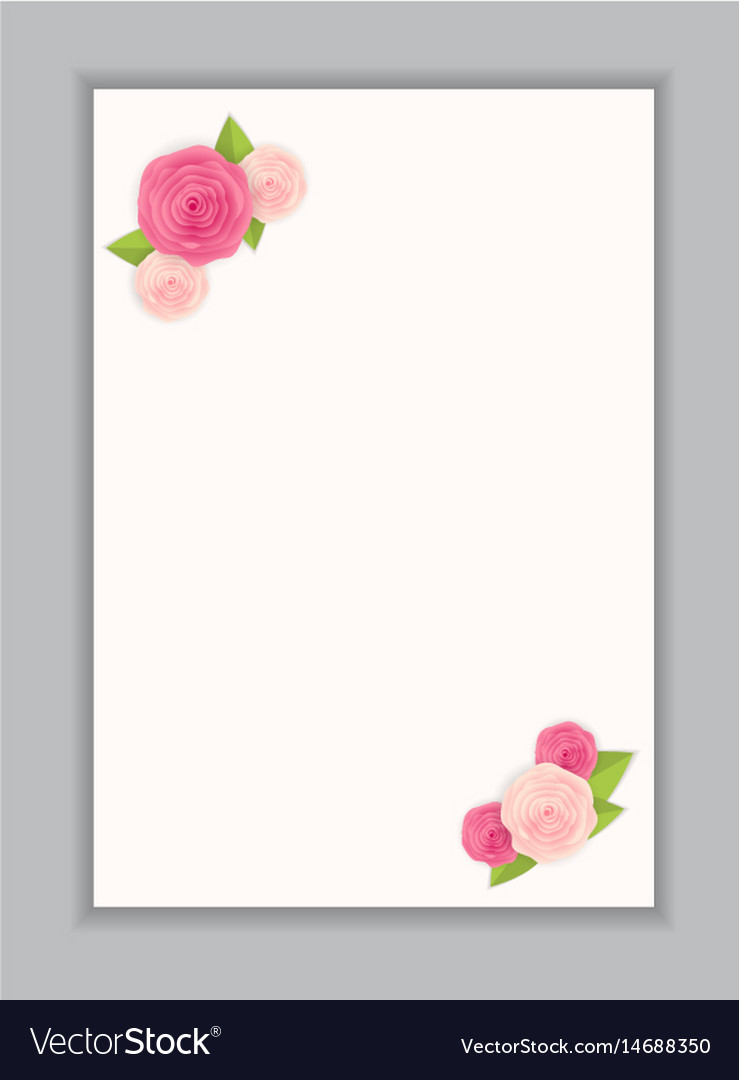 Greeting card blank template Royalty Free Vector Image