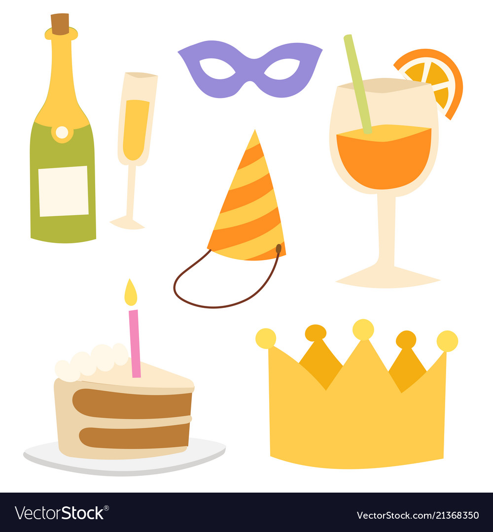 Happy birthday party celebration entertainment vector
