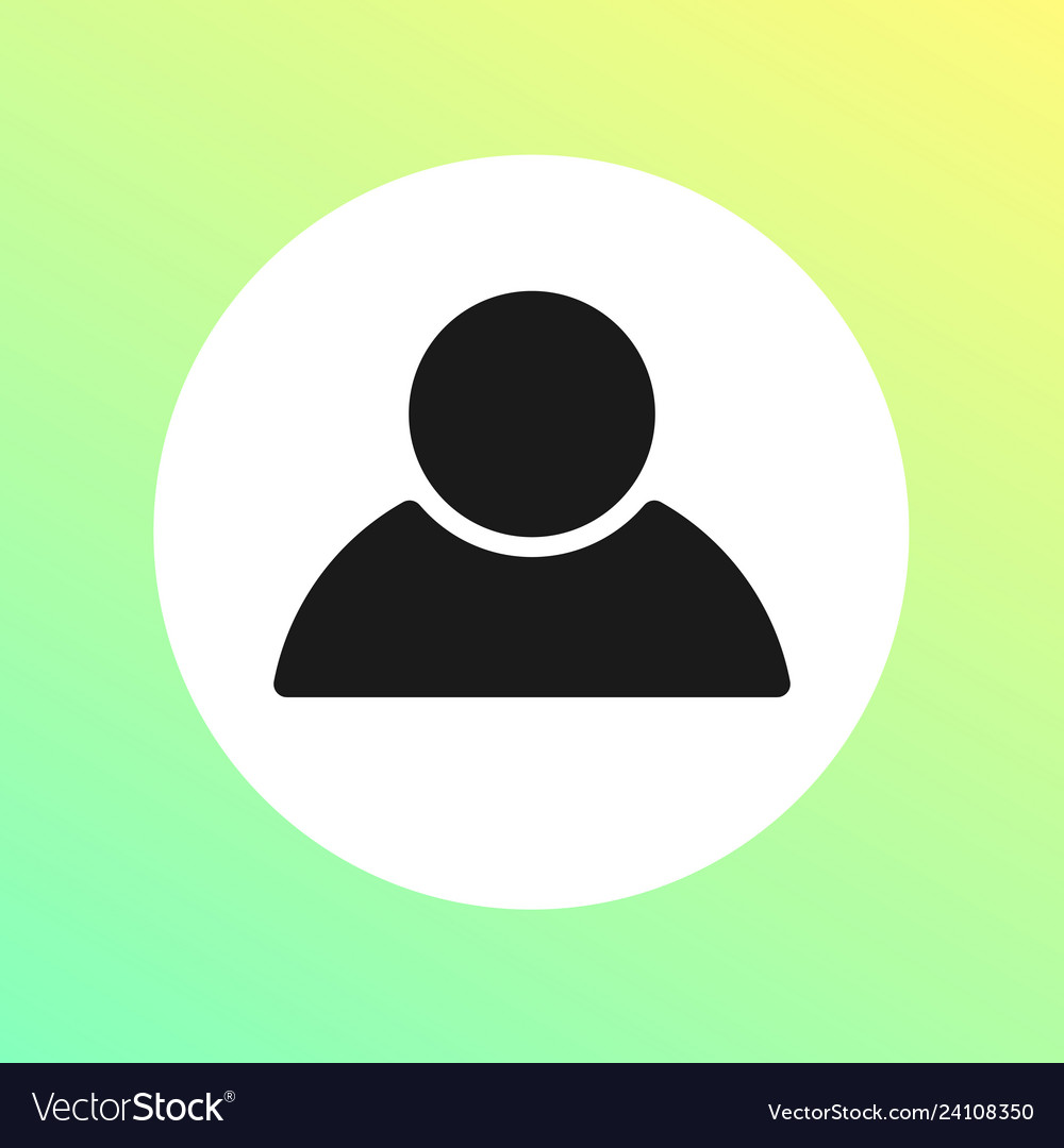 Round person icon - flat people symbol