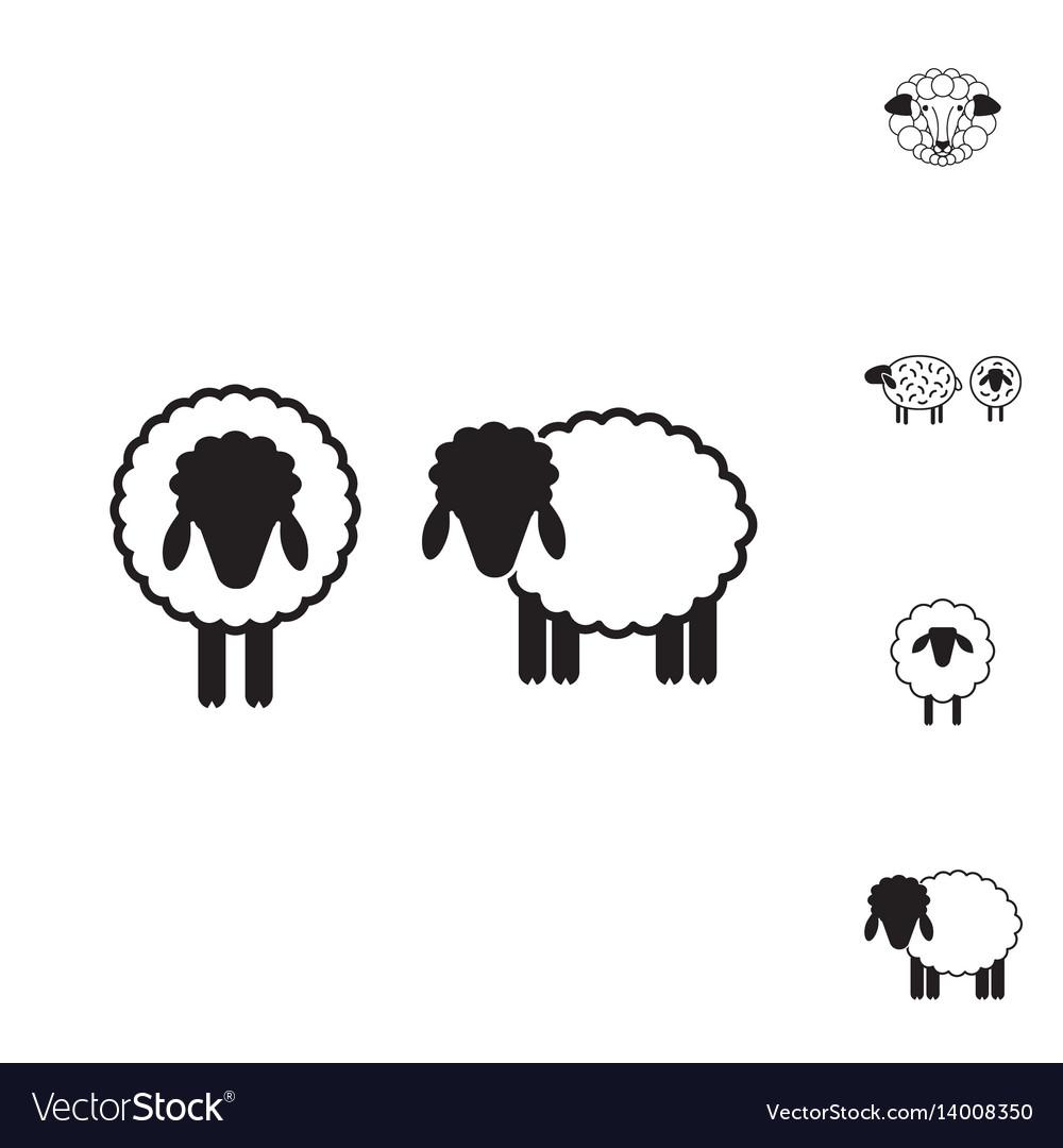 Sheep or ram icon logo template pictogram vector image on VectorStock