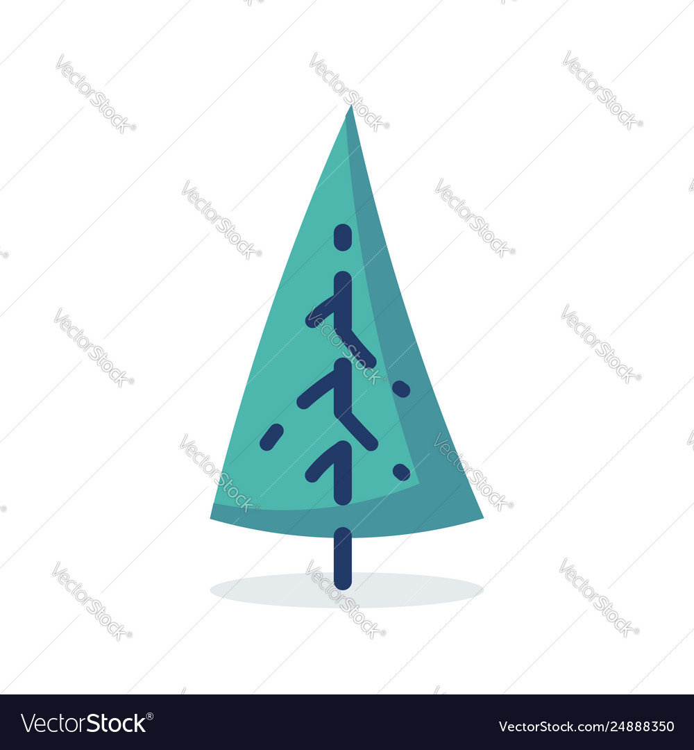 Simple tree icon in flat style