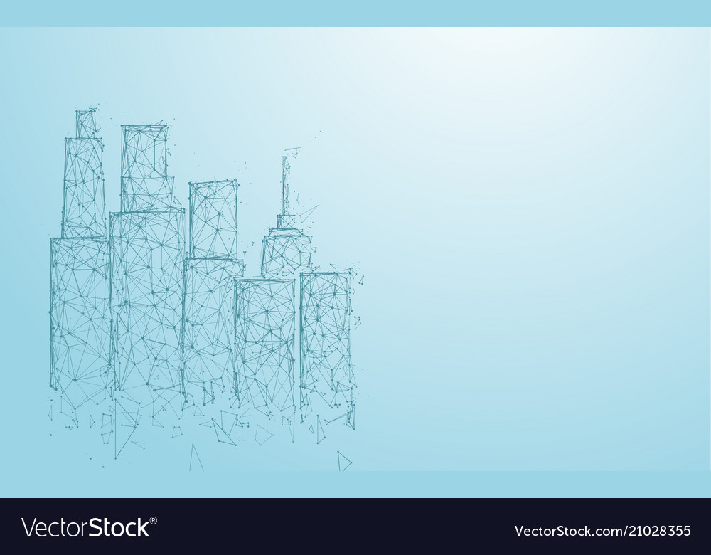Building and city form lines triangles