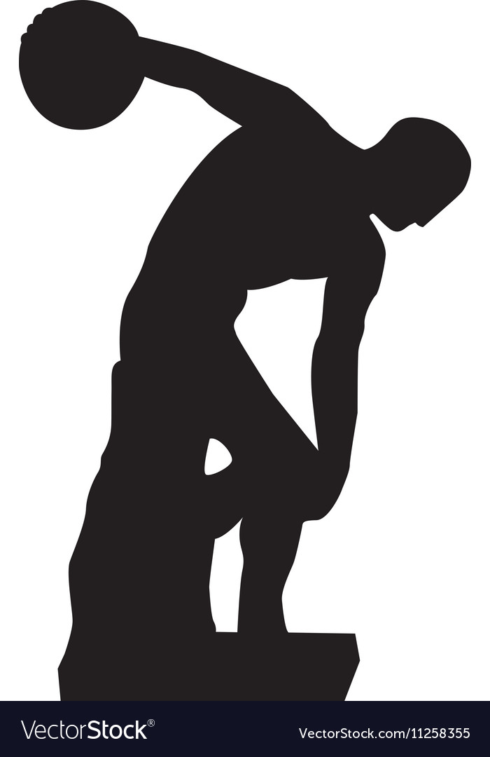 Discus thrower or discobolus sculpture icon image vector image