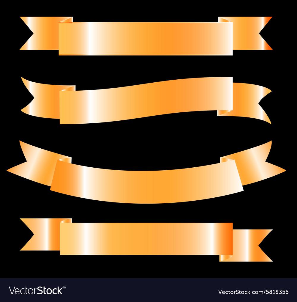 Golden Ribbon - Design Element Set EPS10 vector image