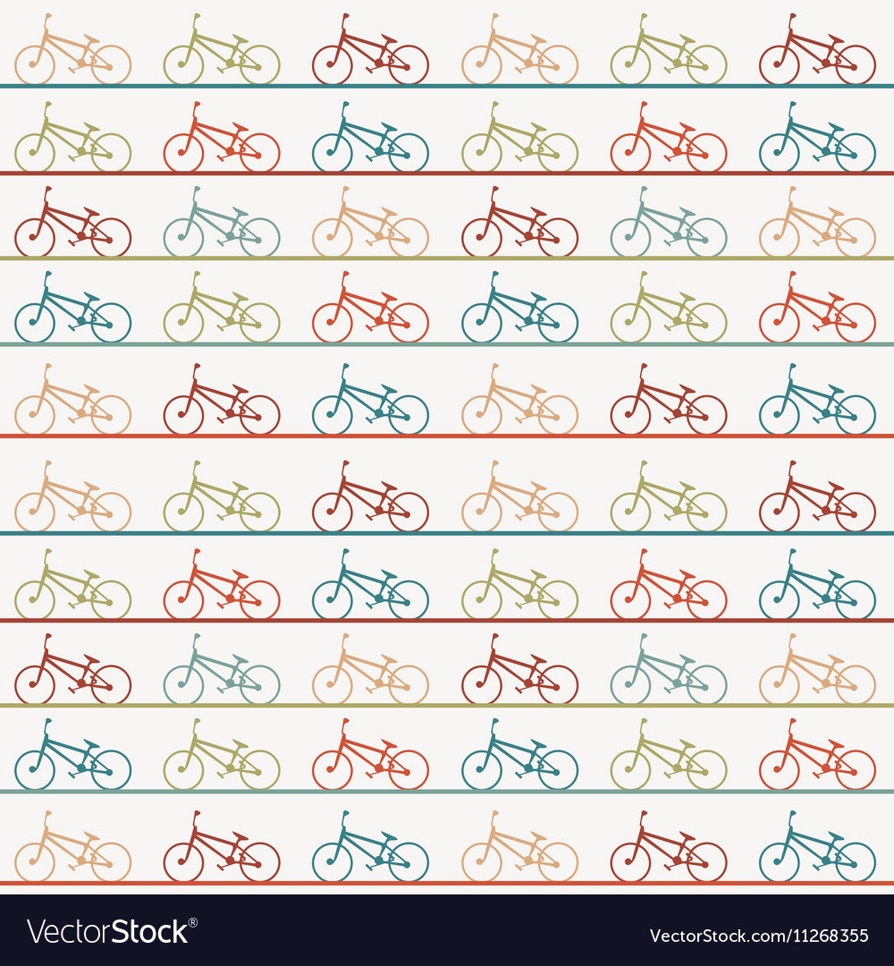 Vintage retro bicycle background vector image