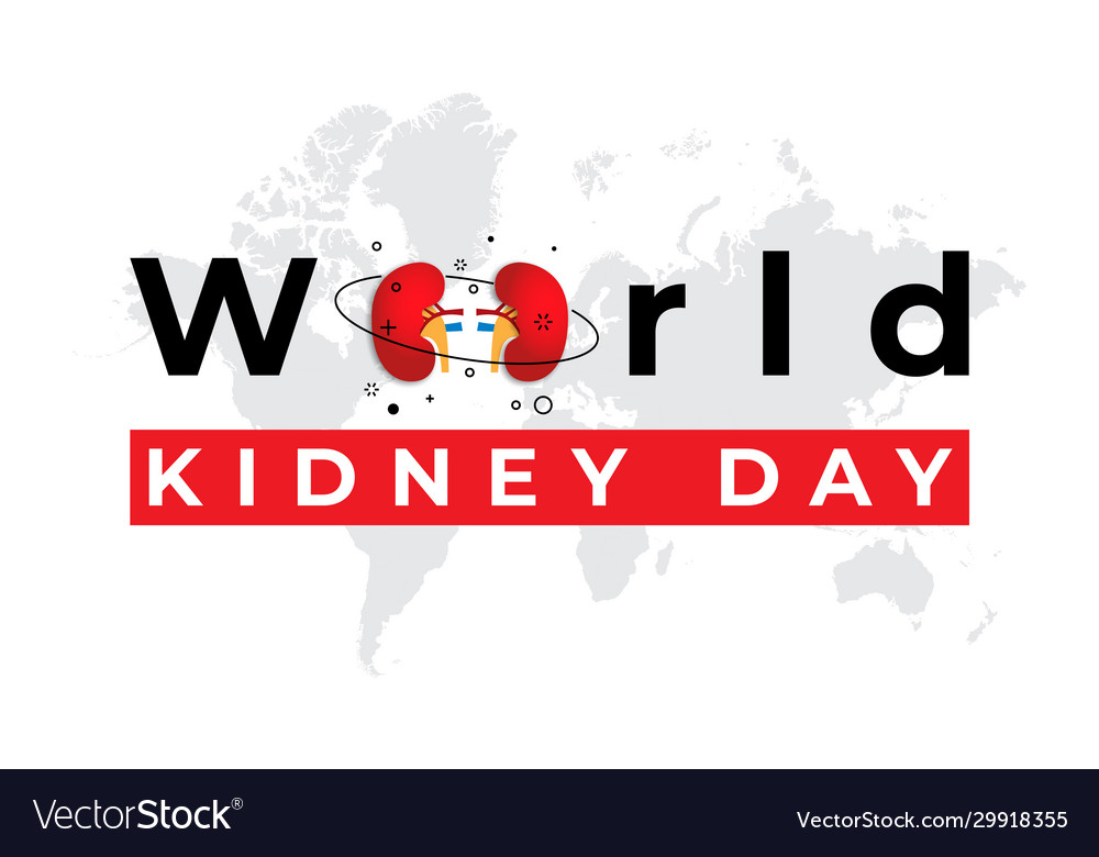 World kidney day banner on a blue