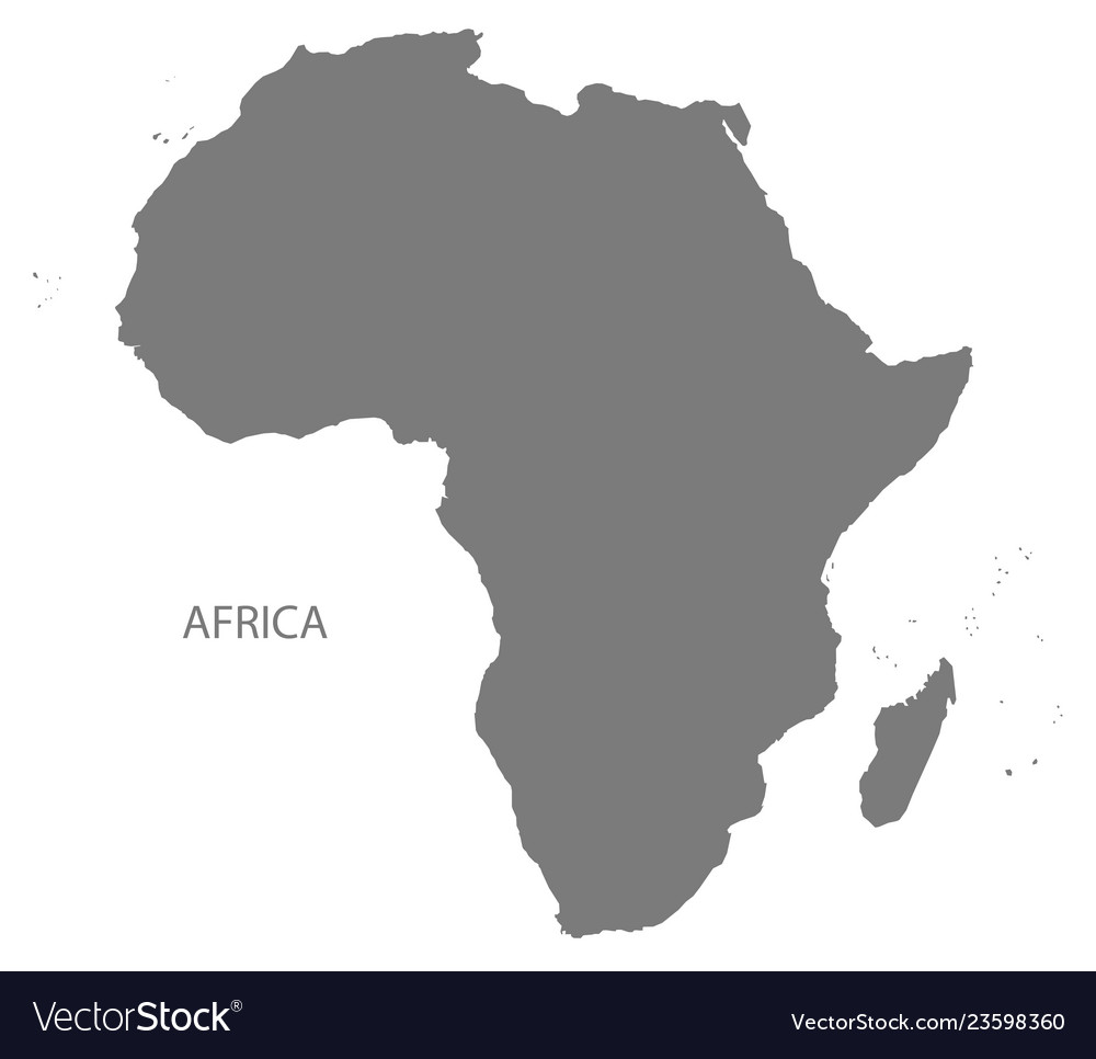 Africa map grey Royalty Free Vector Image   VectorStock