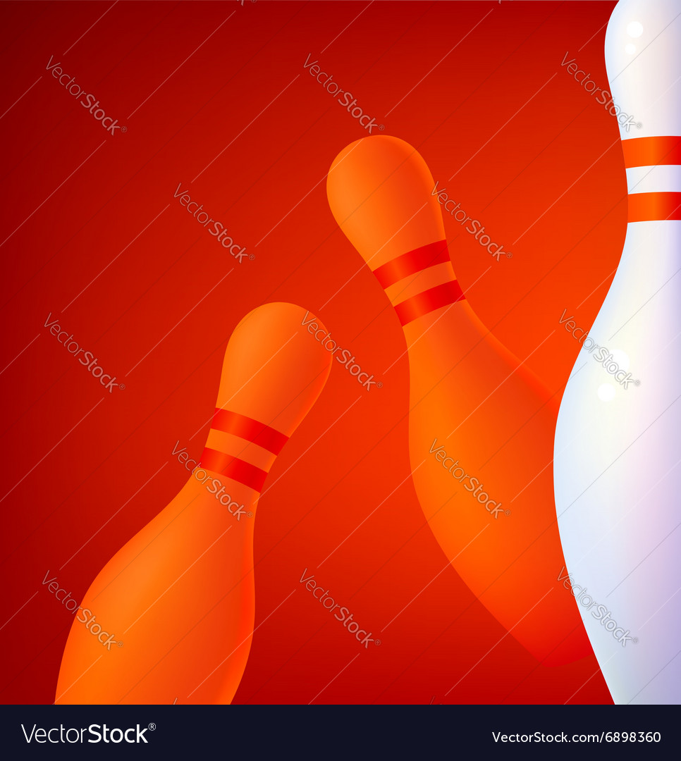 Background with bowling pins vector image
