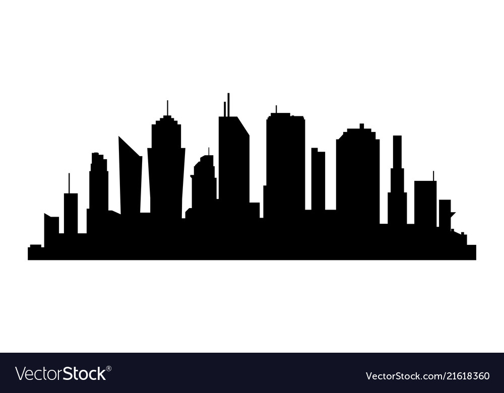 City silhouette on white background business