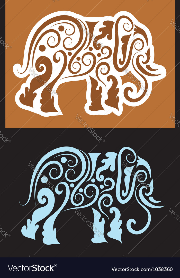 Elephant cutting sticker
