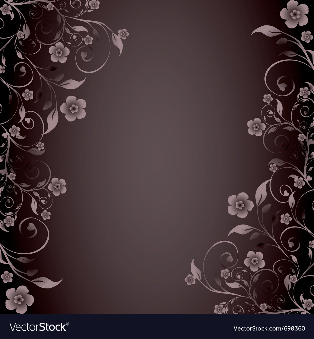 Flower ornament on brown background